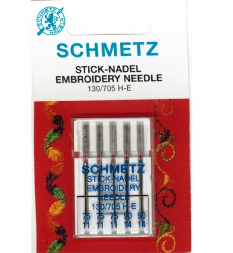 Schmetz - Embroidery Sewing Machine Needles 75/90 (11/14)